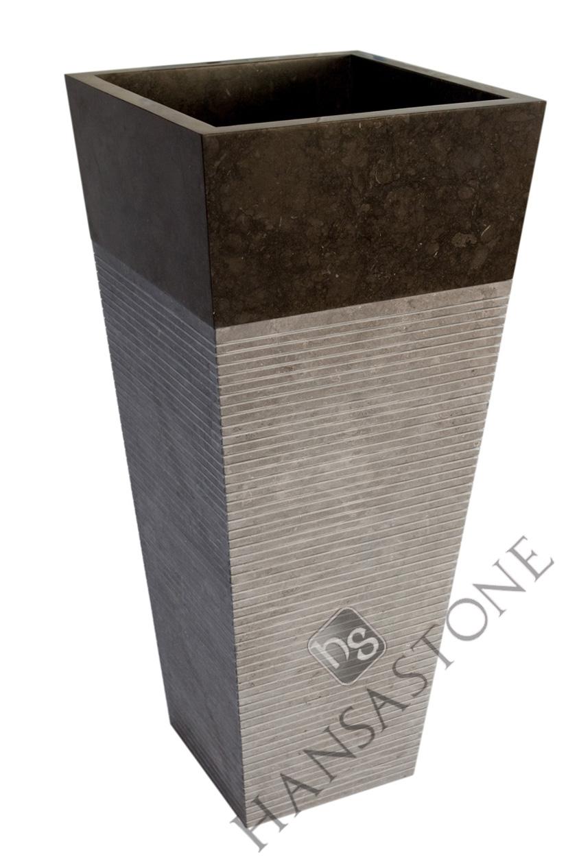 Umywalka kamienna stojąca LUVUS BLACK BIG