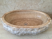Umywalka nablatowa z kamienia naturalnego SUNSED STONE.