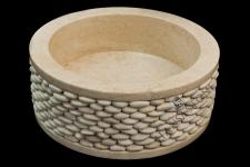 Umywalka kamienna ROUND WHITE