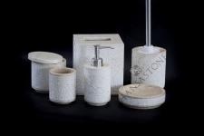 Zestaw łazienkowy LILIAS WHITE
