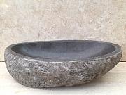 Umywalka nablatowa z kamienia naturalnego  RIVER STONE BIG