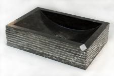 Umywalka kamienna nablatowa TIMOR BLACK