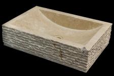 Umywalka kamienna nablatowa TIMOR WHITE