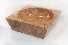 Umywalka kamienna nablatowa BURU RED