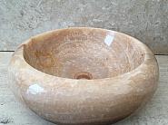 Umywalka nablatowa z kamienia naturalnego TULANGA ONYX