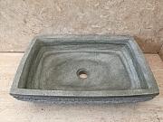 Umywalka nablatowa z kamienia naturalnego LILIAS GREEN
