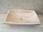 Umywalka nablatowa z kamienia naturalnego LILIAS WHITE