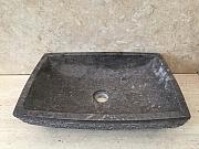 Umywalka nablatowa z kamienia naturalnego LILIAS DARK GREY