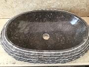 Umywalka nablatowa z kamienia naturalnego KABAENA DARK GREY