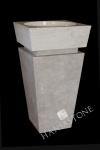 Umywalka kamienna stojąca KOMODO WHITE
