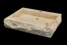 Umywalka kamienna nablatowa BATAVIA WHITE