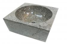 Umywalka kamienna nablatowa NUSA DUA GREY