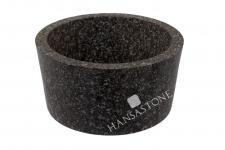 Umywalka kamienna nablatowa  GARUDA GREY