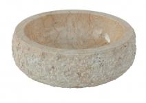 Umywalka kamienna nablatowa ROCHER WHITE