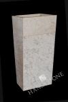 Umywalka kamienna stojąca PURA WHITE BIG