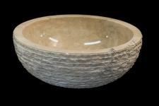 Umywalka kamienna JAVA WHITE BIG
